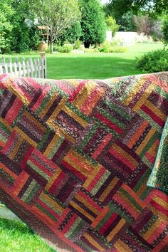 Thimbleberries Autumn Rail Fence Quilt-FREE US Shipping