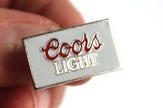 COORS LIGHT Rectangle ENAMEL METAL PIN Souvenir Keepsake gift for dad