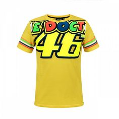 The Doctor Stripes T-Shirt Gelb Mfc-moto. Valentino Rossi, Races Outfit, Vr46, Fashion Studio, Your Photos, Sportswear, Fashion Photography, Tee Shirts, Stripes