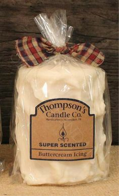 Prim Country Buttercream Icing Medium Pillar. Handmade in the USA, Super Scented #CountryCandles #Primitives