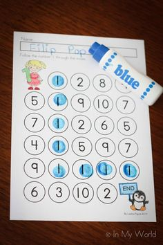 Letter I Preschool Number 1 Maze. Includes link to FREE printable. Includes link to FREE printable. Numbers Preschool, Preschool Letters, Learning Numbers, Math Numbers, Preschool Kindergarten, Preschool Learning, Teaching Math, Math Activities, Preschool Activities