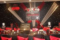 Hollywood Theme Party with themed backdrop - Children