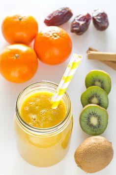 Este batido anti resfriado es un cóctel de vitaminas ideal para estar sanos y reforzar el sistema inmune durante los meses de frío. Además está delicioso.