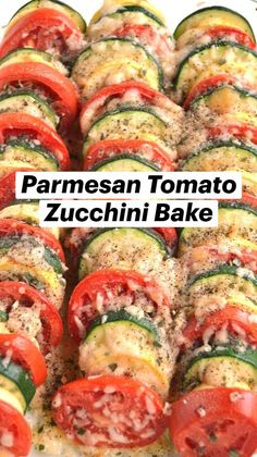 Good Healthy Recipes, Healthy Cooking, Healthy Snacks, Vegetarian Recipes, Cooking Recipes, Healthy Dinners, Tomato Zucchini Bake, Baked Zuchinni Recipes, Vegetable Side Dishes
