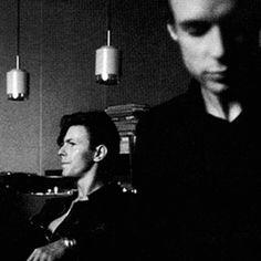 David Bowie and Brian Eno, 1977. Hansa Studios, Berlin.