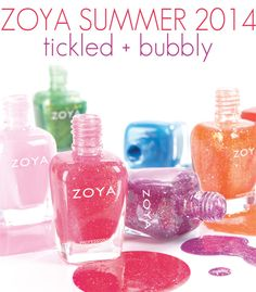 Zoya Tickled + Bubbly Collections for Summer