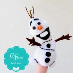 #Dedoches do #Olaf para uma festa #frozen ❄⛄Let it Go, Ler it Go… #lembrancinhainfantil #festafrozen #lembrançaspersonalizadas