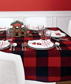 Buffalo plaid table
