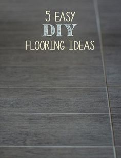 Here are some ideas of ways that you can do your own flooring a little easier and cheaper: View the slideshow below to read more: