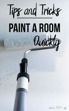 Save this!! How to paint a room like a pro. A step by step guide on how to get it done fast and like a pro!