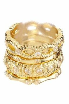 Gold jewelry makes me feel so opulent! Love these rings!