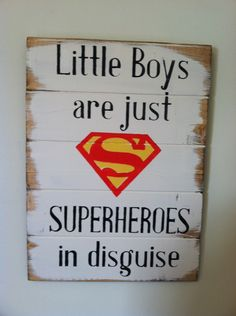 Superman+symbol++Little+Boys+are+just+SUPERHEROES+by+OttCreatives,+$45.00