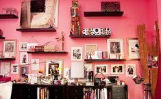 I love the idea of ledge shelving to display framed art/photos and knick knacks.