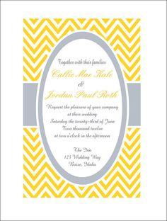 Personalized Chevron Wedding, Bridal Shower, or Baby Shower Invitation!