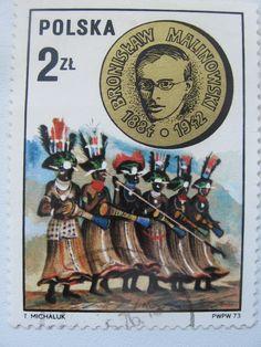 znaczki pocztowe. Bronisław Malinowski