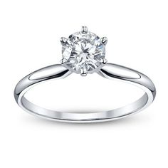 Round-Cut Solitaire Engagement Ring (.35ctt)