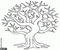whimsical tree coloring page Fall Coloring Pages, Tree Coloring Page, Printable Coloring Pages, Coloring Pages For Kids, Coloring Sheets, Coloring Books, Autumn Art, Autumn Trees, Bodhi Tree