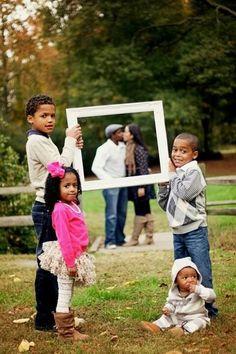 Great idea for family photo.