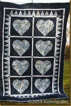 'Gänseblümchen haben auch Herz' genäht und gequiltet von QF Patchliesel (aus einer Wundertüte).