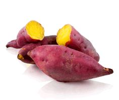 Japanese Sweet Potatoes are purple on the outside and yellow inside! What a delight! Rich in vitamins A and C, antioxidant and anti-inflammatory anthocyanins, fiber and a host of minerals, this Japanese alternative makes for a fantastic side dish.