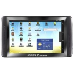 Archos 70 8 GB Tablet - - ARM Cortex 1 GHz - Android Froyo - Slate - 800 x 480 Multi-touch Screen Display - BluetoothShow More + 10 Inch Android Tablet, Tablet 7, Tablet Computer, Usb, Cheap Internet, Wifi, Arm Cortex, France, Gadget Gifts
