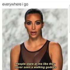 kim kardashian people stare at me like they never seen a walking goddess meme funny quote Senior Year Quotes, Funny Yearbook Quotes, Funny Quotes, Funny Senior Quotes, Graduation Quotes Funny, Graduation Message, Sassy Quotes, Kim Kardashian Quotes, Koko Kardashian