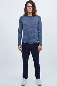 Selected Homme Clash Jumper in Indigo #sweater #selectedhomme #men #covetme