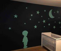 #wallmania #sticker combination toddler boy & sterrenhemel
