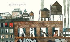 The illustrations in Home are the wonderful. Look at those water towers! UGH SO GOOD! A must have.Find it here.