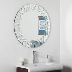 Décor Wonderland Circles Bathroom Wall Mirror - 35 in. diam. | from hayneedle.com