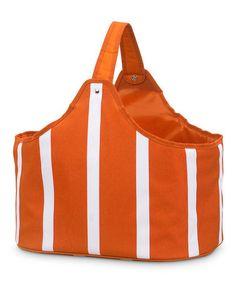 This Orange Stripe Market Basket is perfect! #zulilyfinds