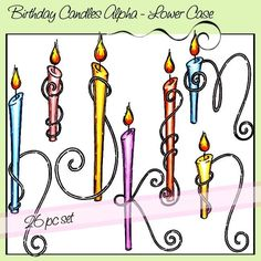 Birthday Candles Alpha – Lower Case