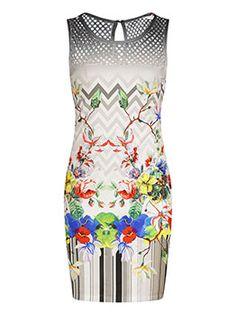 Celestino - Sleeveless mini printed dress