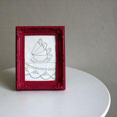 čajový dýchánek / tea time Tea Time, Paintings, Frame, Home Decor, Picture Frame, Decoration Home, Paint, Room Decor, Painting Art