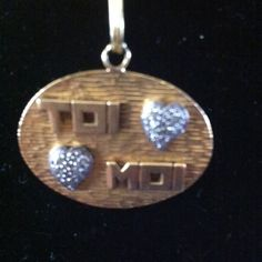 """SALE Beautiful 18k pendant meaning """"YOU & ME"""""""" Selling only the pendant stamped 18k real gold with diamonds is not a light pendant Jewelry"""