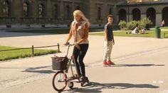 インラインスケートと自転車が合体したような「AeYO」