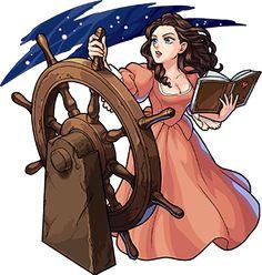 barbosa and carina \ barbosa y carina + barbosa and carina + carina barbosa Pirate Art, Pirate Life, Disney Fan Art, Disney Love, Disney And Dreamworks, Disney Pixar, Carina Smyth, Pocket Princesses, Treasure Planet