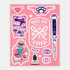 Magic Girl Power | Stickers, Sticker Sheets and Vinyl Stickers | HUMAN