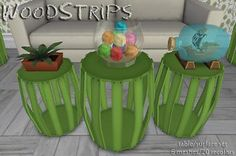 Mod The Sims - WoodStrips ~ Tables and Surfaces Set