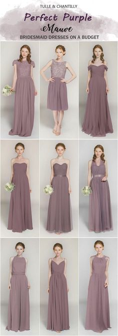 3f333438a5c Mauve bridesmaid dresses from tulle and chantilly Wedding Dresses For  Bridesmaids
