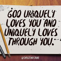 God uniquely loves you and uniquely loves through you. How He Loves Us, Jesus Loves Me, Faith Quotes, Life Quotes, Rainbow Promise, Christine Caine, Because He Lives, Godly Woman, Love You