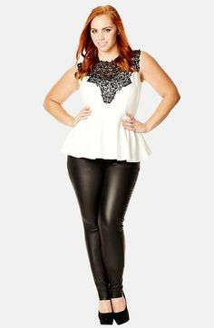 City Chic 'Lace Love' Top (Plus Size)   Nordstrom