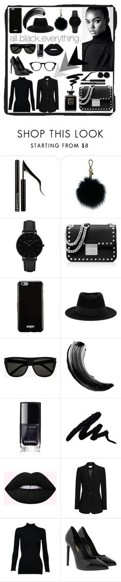 """all.black.everything."" by deeanaa ❤ liked on Polyvore featuring Forever 21, MICHAEL Michael Kors, CLUSE, Givenchy, Maison Michel, Yves Saint Laurent, Chanel, Reiss, Alaïa and black"