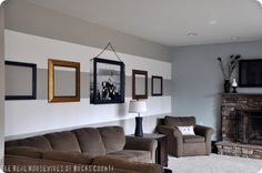 Gorgeous frame wall using a Staples engineer print photo for only $4.99!