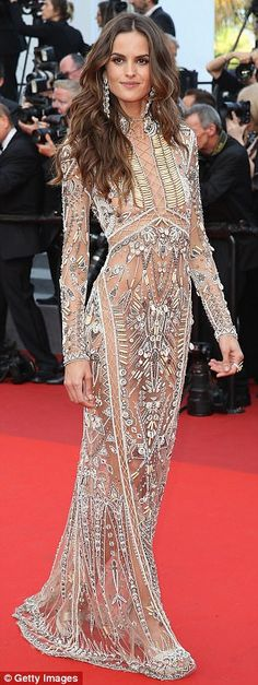 Izabel Goulart steals Cannes in very sheer dress   Daily Mail Online