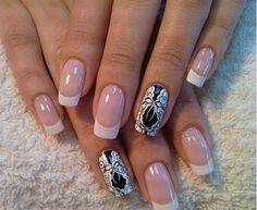 See more White and black nail styles for ladies