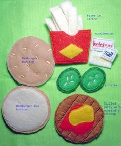 In The Hoop Felt Food Burger and Fries Machine by NewfoundApplique