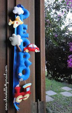 Nome em feltro tema meios de transporte | Flickr - Photo Sharing!
