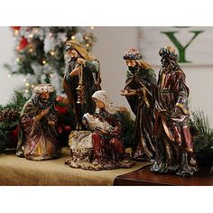 Old World Nativity Statues, Set of 5; $129.99