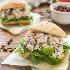 Cranberry Pistachio Chicken Salad